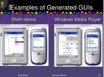 examples of generated guis