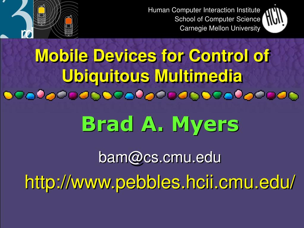 mobile devices for control of ubiquitous multimedia l.