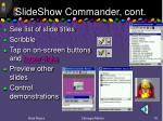 slideshow commander cont