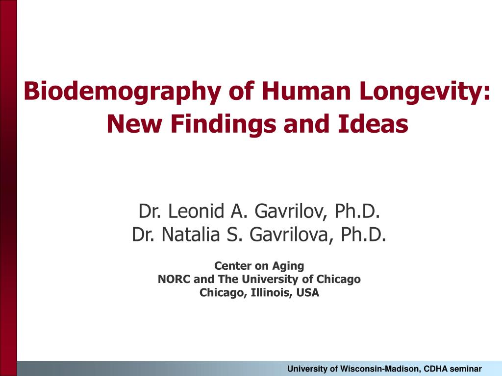 biodemography of human longevity new findings and ideas l.