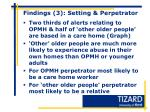 findings 3 setting perpetrator