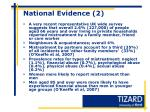 national evidence 2