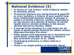 national evidence 5