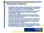 national evidence