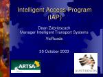 intelligent access program iap