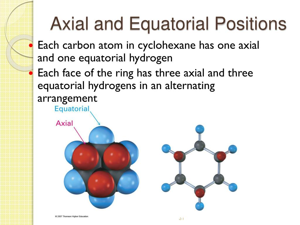 Axial and Equatorial Positions