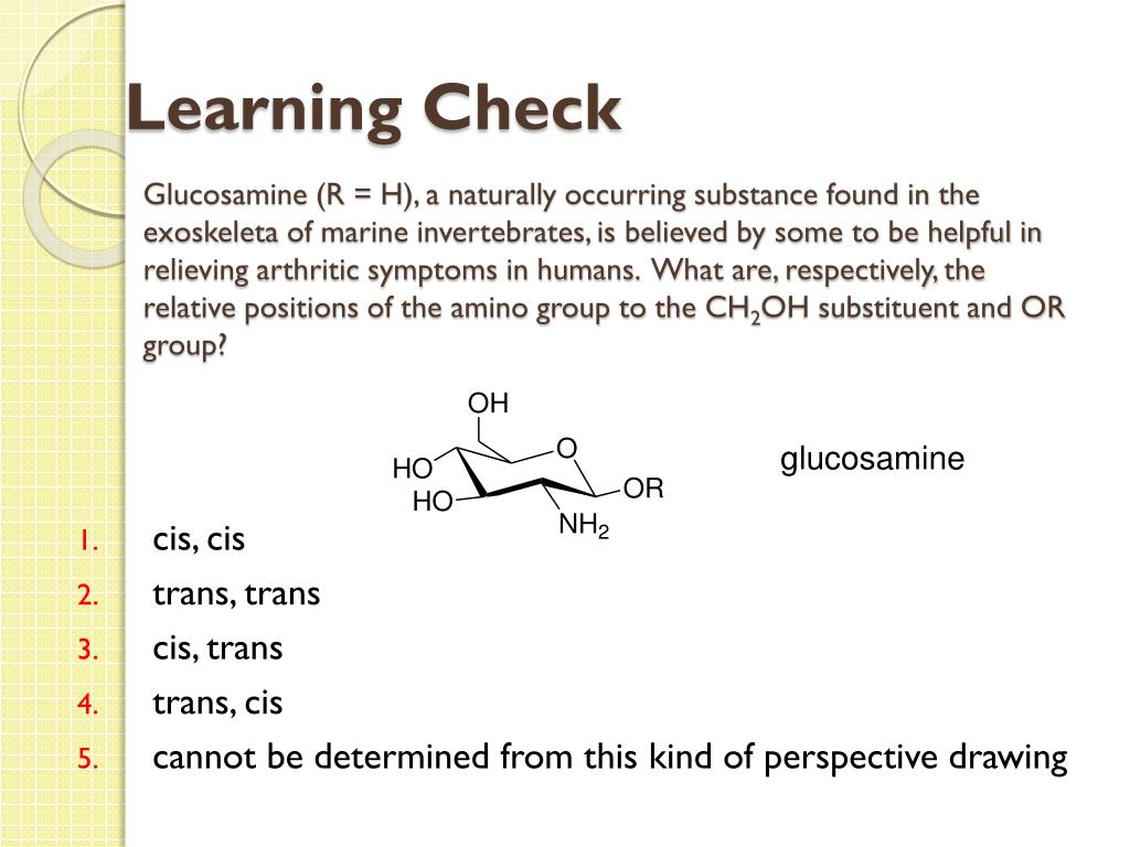Glucosamine (R = H), a naturally occurring substance found in the