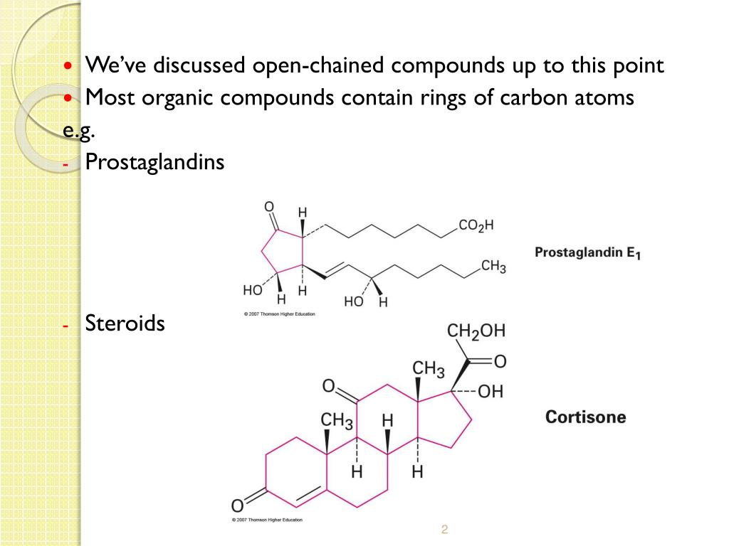 We've discussed open-chained compounds up to this point