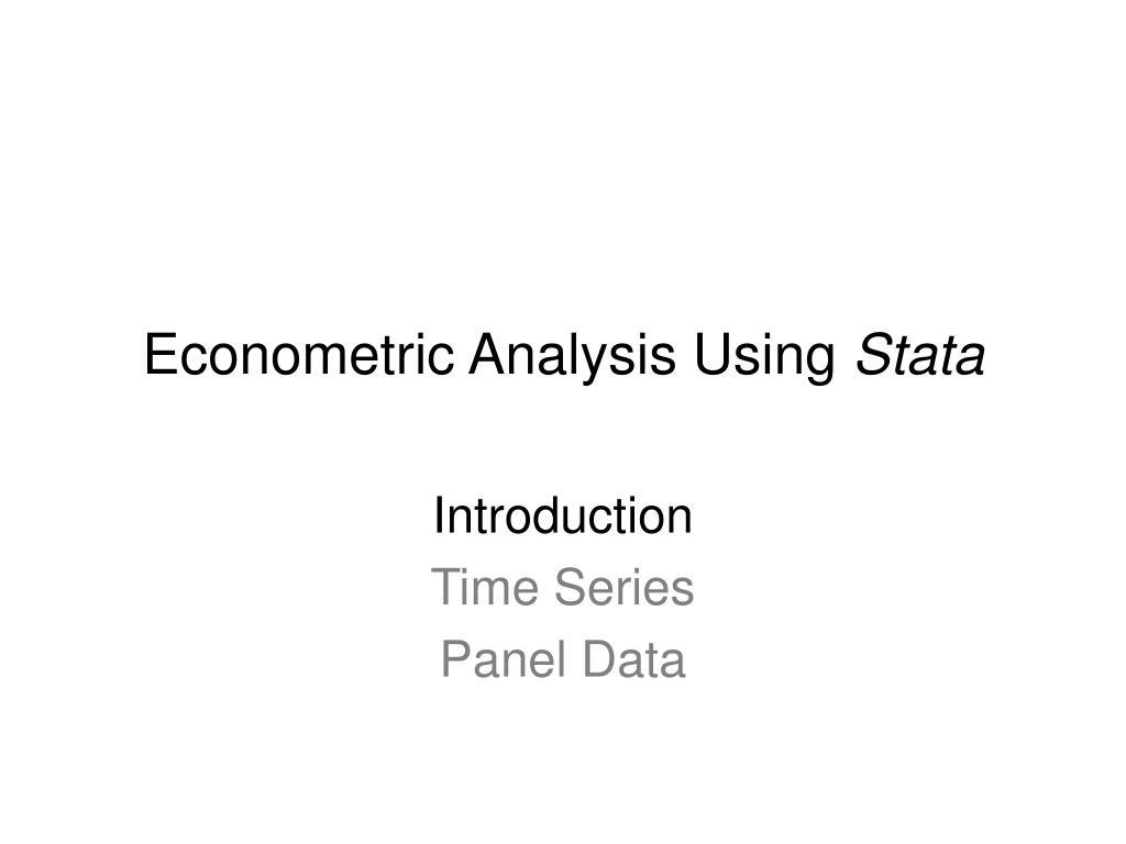 econometric analysis using stata l.