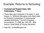 example returns to schooling