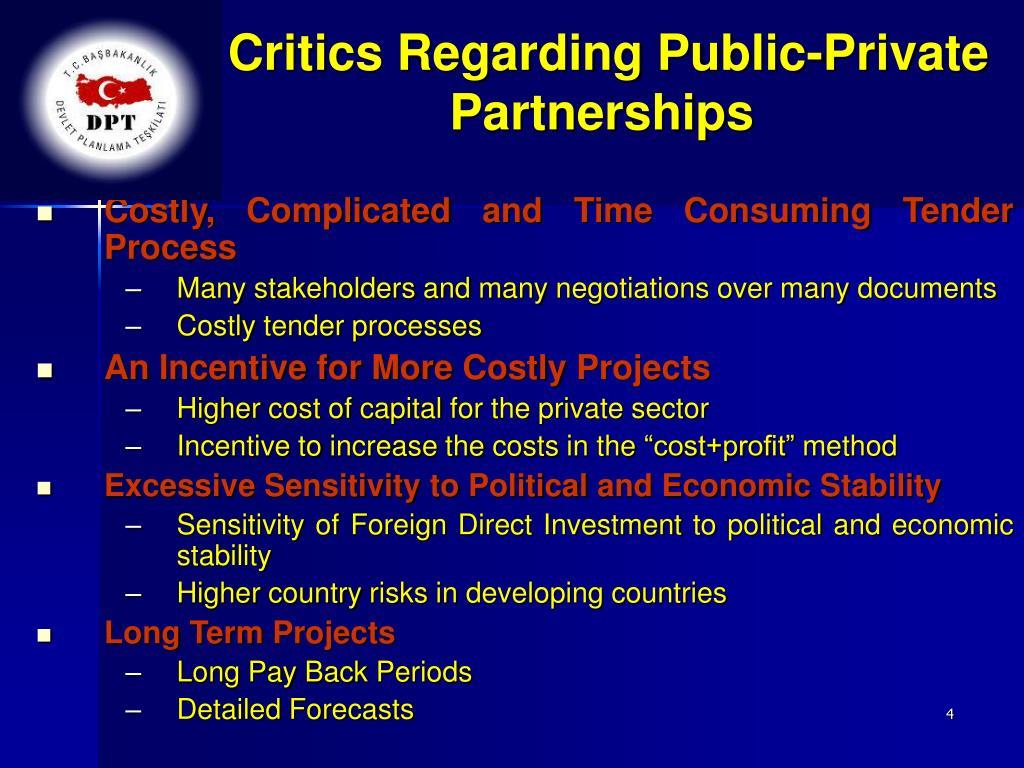 Critics Regarding Public-Private Partnerships