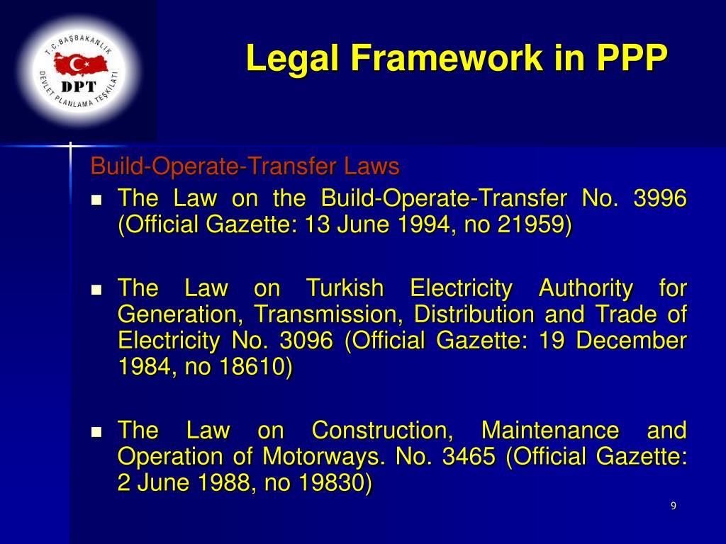 Legal Framework in PPP