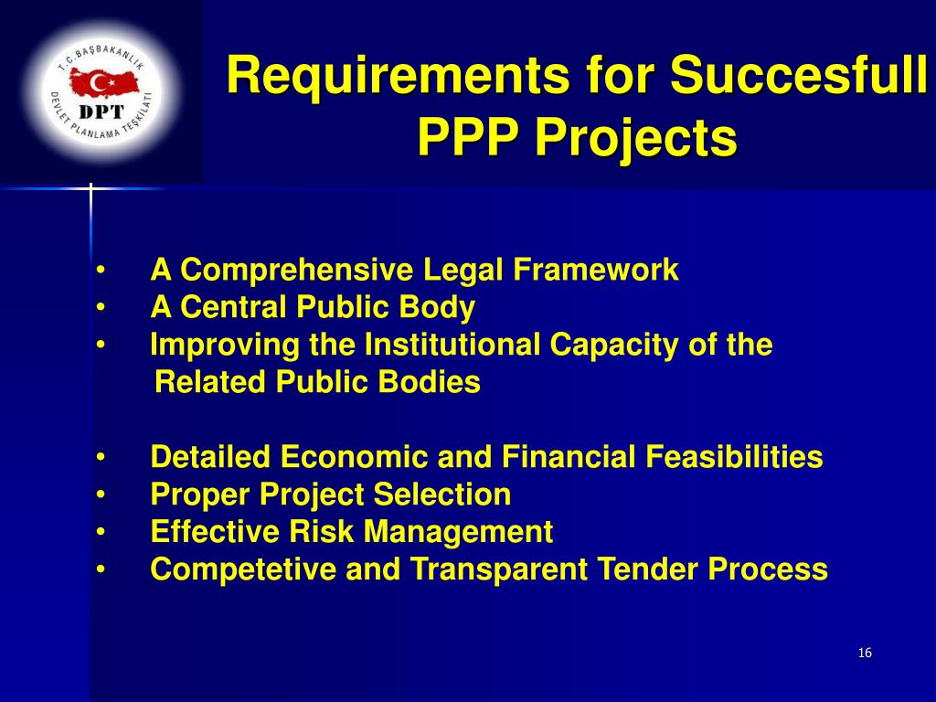 Requirements for Succesfull PPP Projects