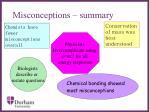 misconceptions summary