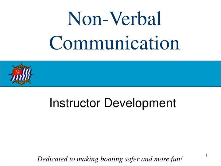 non verbal communication n.