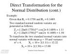 direct transformation for the normal distribution cont30