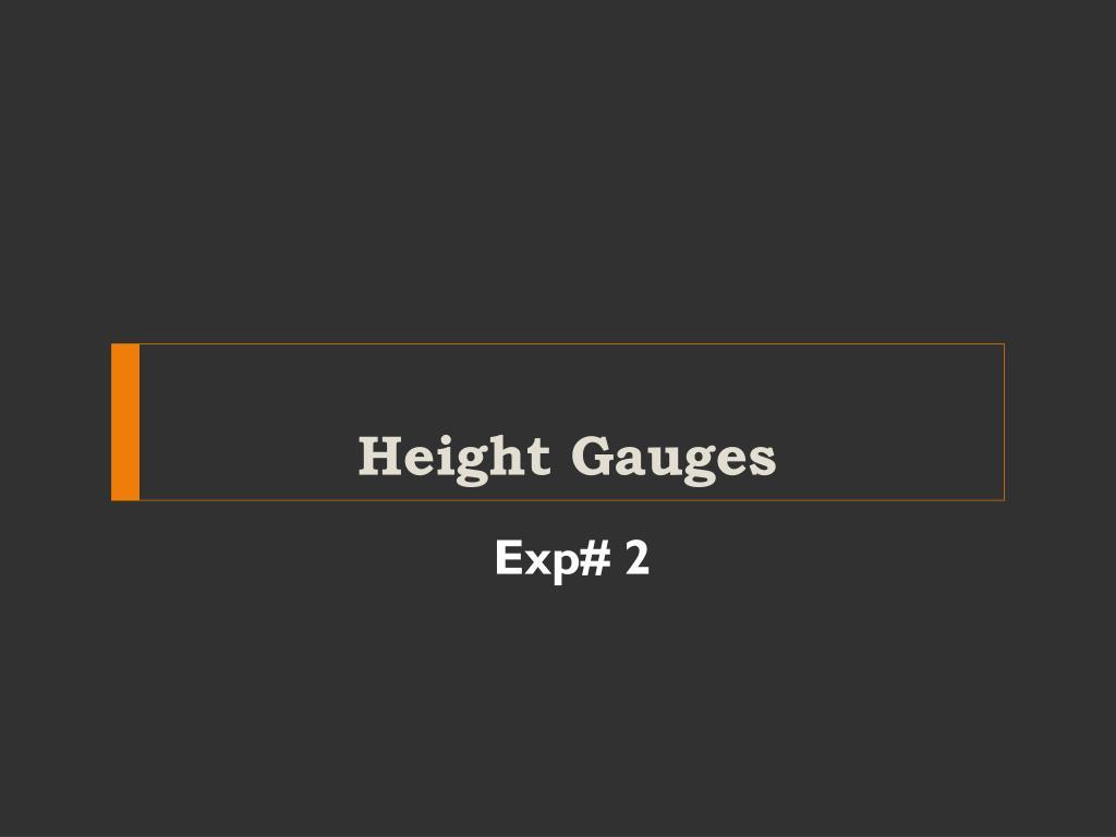 height gauges l.