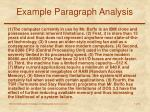 example paragraph analysis