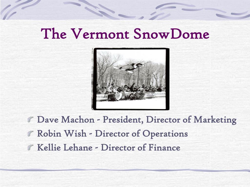 the vermont snowdome l.
