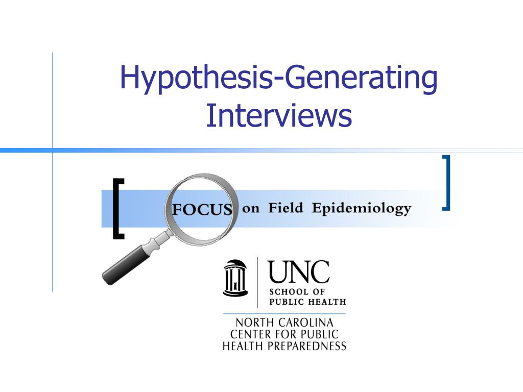 hypothesis generating interviews l.