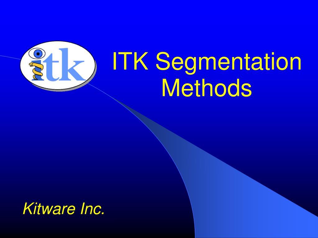 itk segmentation methods l.