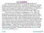 la louisiane