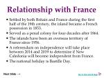 relationship with france