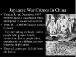 japanese war crimes in china