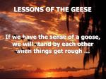 lessons of the geese17