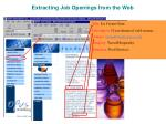 extracting job openings from the web