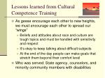 lessons learned from cultural competence training