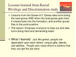 lessons learned from racial privilege and discrimination study