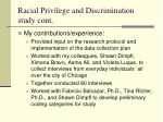 racial privilege and discrimination study cont