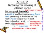 activity 2 inferring the meaning of unknown words13