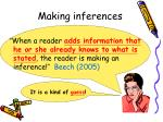 making inferences7