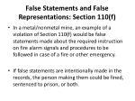 false statements and false representations section 110 f34