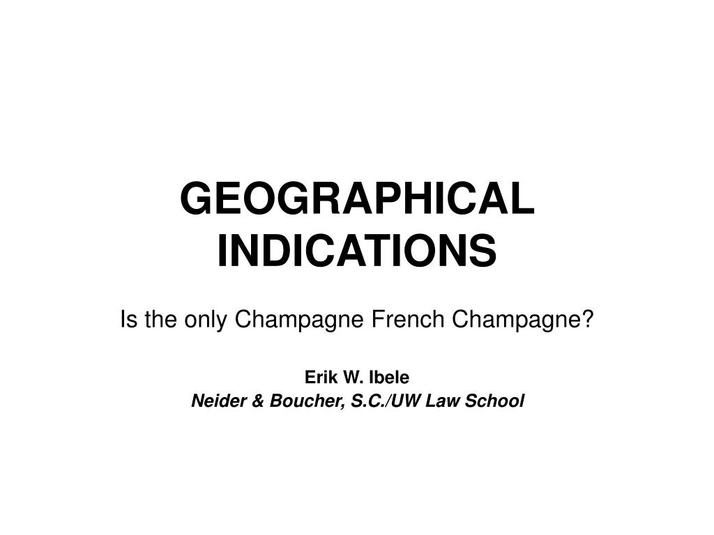 geographical indications l.