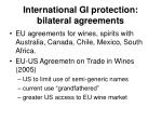 international gi protection bilateral agreements