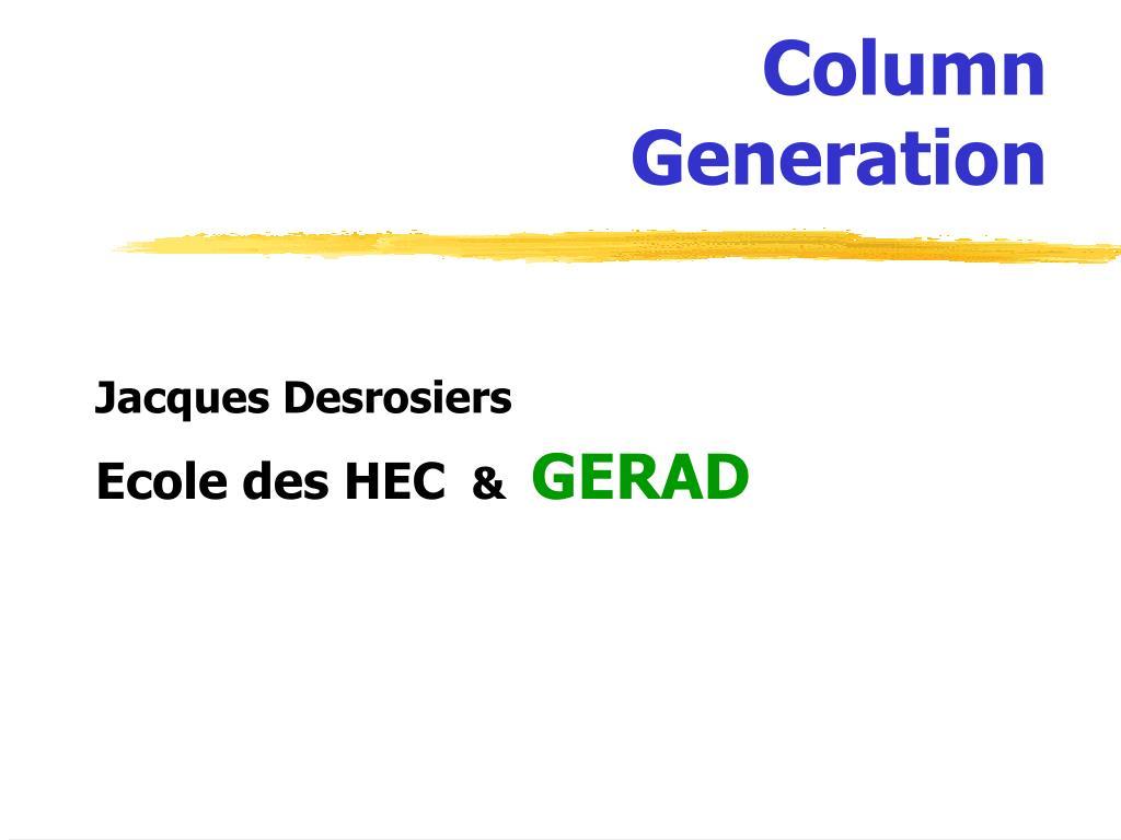 column generation l.