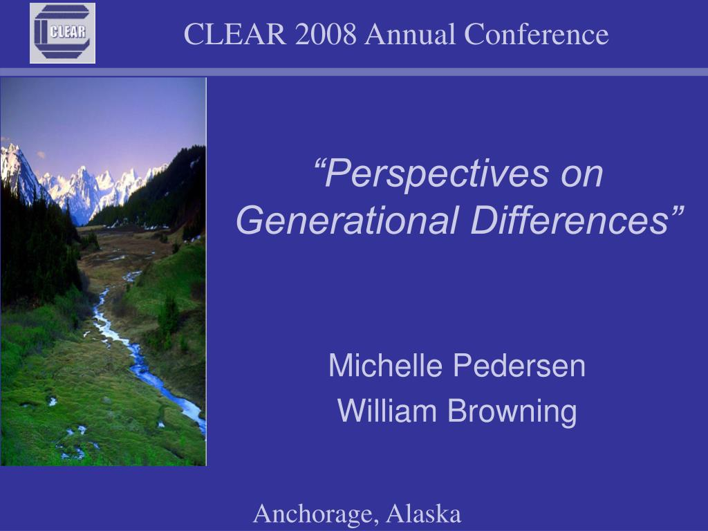 perspectives on generational differences l.