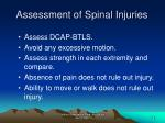 assessment of spinal injuries43