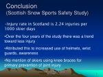 conclusion scottish snow sports safety study