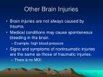 other brain injuries