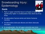 snowboarding injury epidemiology