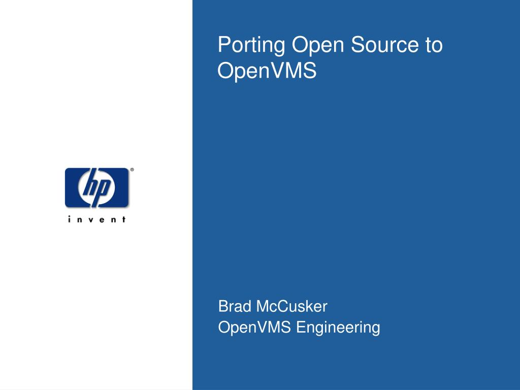porting open source to openvms l.