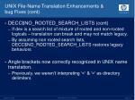 unix file name translation enhancements bug fixes cont