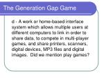 the generation gap game10