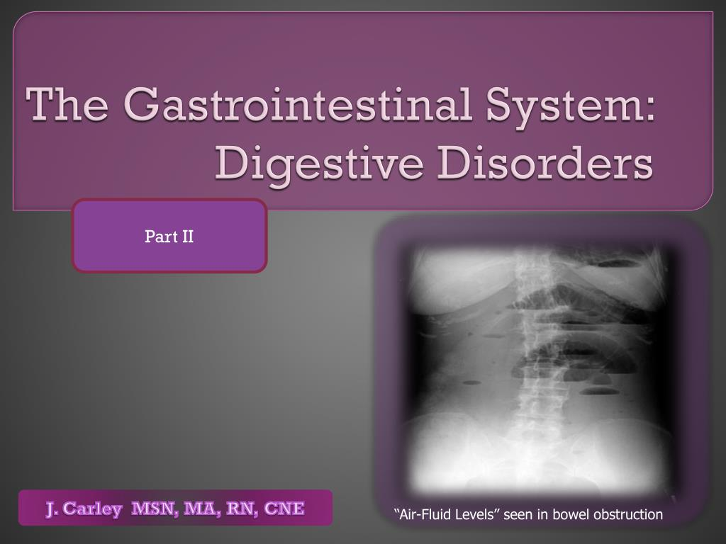 the gastrointestinal system digestive disorders l.