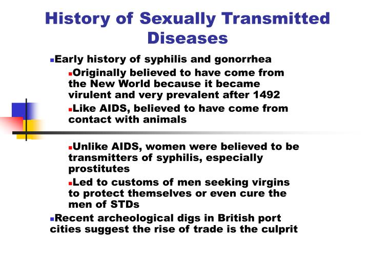 history of sexually transmitted diseases n.