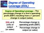 degree of operating leverage dol
